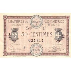 Macon et Bourg - Pirot 78-13 - 50 centimes - Série F - 04/08/1921 - Etat : TTB+