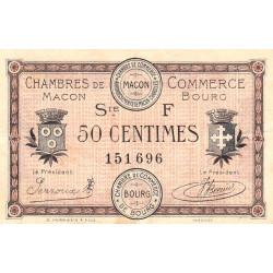 Macon et Bourg - Pirot 78-13 - 50 centimes - 1921 - Etat : TTB