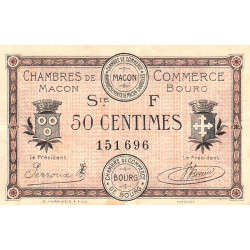 Macon et Bourg - Pirot 78-13 - 50 centimes - Série F - 04/08/1921 - Etat : TTB