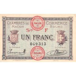 Macon et Bourg - Pirot 78-14 - 1 franc - Série F - 04/08/1921 - Etat : SUP