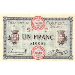 Macon et Bourg - Pirot 78-14 - 1 franc - Série F - 04/08/1921 - Etat : SUP+
