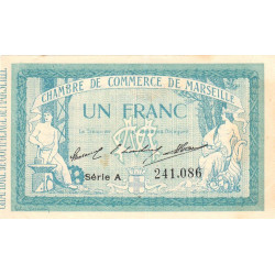 Marseille - Pirot 79-11 - Série A - 1 franc - 1914 - Etat : TTB