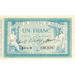 Marseille - Pirot 79-11 - Série D - 1 franc - 1914 - Etat : SPL