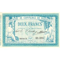 Marseille - Pirot 79-18 - Série D - 2 francs - 1914 - Etat : SUP