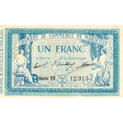 Marseille - Pirot 79-31 - 1 franc - Série 19 - 12/08/1914 - Etat : SUP