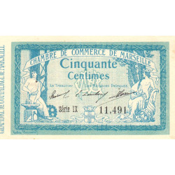 Marseille - Pirot 79-45 - 50 centimes - Série IX - 05/11/1915 - Etat : SUP