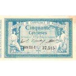 Marseille - Pirot 79-56  - 50 centimes - Série XIII-R - 05/11/1915 - Etat : TTB+