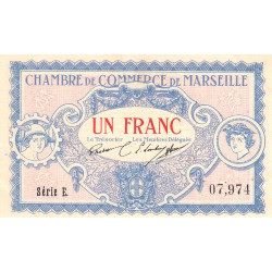 Marseille - Pirot 79-64 - Série E - 1 franc - 1917 - Etat : SUP+