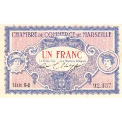 Marseille - Pirot 79-70 - Série U-R - 1 franc - 1917 - Etat : SUP