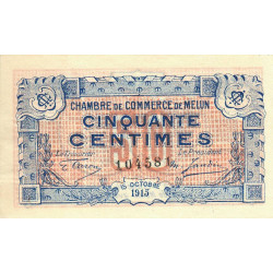 Melun - Pirot 80-1 - 50 centimes - 15/10/1915 - Etat : SUP+