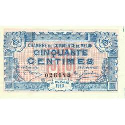 Melun - Pirot 80-1 variété - 50 centimes - 15/10/1915 - Etat : SUP+
