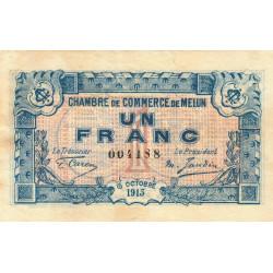 Melun - Pirot 80-3 variété - 1 franc - 1917 - Etat : TTB