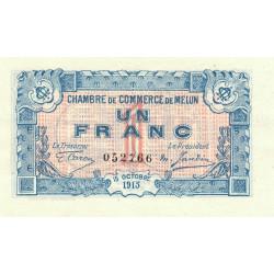 Melun - Pirot 80-3 variété - 1 franc - 1917 - Etat : NEUF
