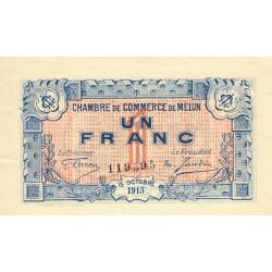 Melun - Pirot 80-3 - 1 franc - 15/10/1915 - Etat : TTB