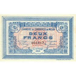 Melun - Pirot 80-5 - 2 francs - 1917 - Etat : SUP
