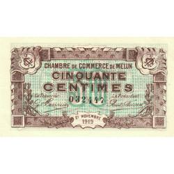 Melun - Pirot 80-7 - 50 centimes - 1919 - Etat : TTB+