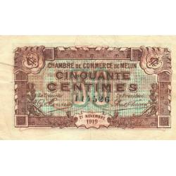 Melun - Pirot 80-7 - 50 centimes - 21/11/1919 - Etat : TB+