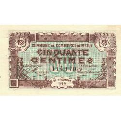 Melun - Pirot 80-7 - 50 centimes - 1919 - Etat : TTB