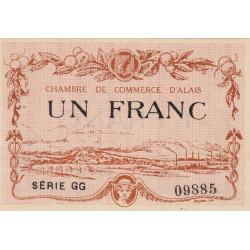 Alais (Alès) - Pirot 4-9 - 1 franc - Série GG - 30/03/1916 - Etat : SUP