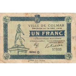 68 Colmar (Ville de) - Pirot 130-3a - 1 franc - Etat : TB-