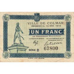 68 Colmar (Ville de) - Pirot 130-3c - 1 franc - Etat : TB+