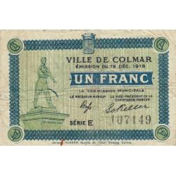 68 Colmar (Ville de) - Pirot 130-6 - 1 franc - Etat : TB