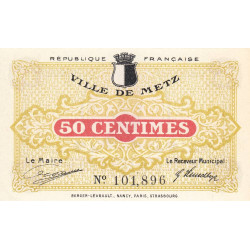57 Metz (Ville de) - Pirot 131-1a - 50 centimes - Etat : SPL à NEUF