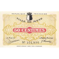 Metz - Pirot 131-1a - 50 centimes - 27/12/1918 - Etat : SPL à NEUF
