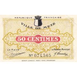 Metz - Pirot 131-1c - 50 centimes - 27/12/1918 - Etat : SUP
