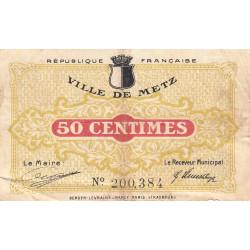 Metz - Pirot 131-1c - 50 centimes - 27/12/1918 - Etat : TB