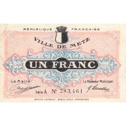 Metz - Pirot 131-4c - 1 franc - Série A  - 27/12/1918 - Etat : TTB-