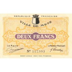 Metz - Pirot 131-6 - 2 francs - 27/12/1918 - Etat : SUP+