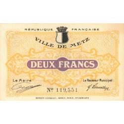 57 Metz (Ville de) - Pirot 131-6a - 2 francs - Etat : SPL