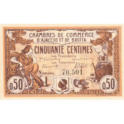 Ajaccio / Bastia - Pirot 3-1a - 50 centimes - 1915 - Etat : SUP à SPL