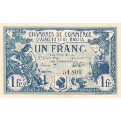 Ajaccio / Bastia - Pirot 3-2 - 1 franc - 06/08/1915 - Etat : NEUF