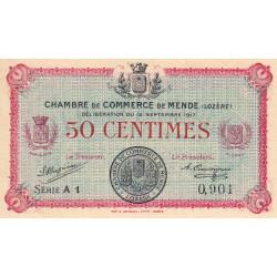 Mende (Lozère) - Pirot 81-1 - 50 centimes - Etat : SUP+ à SPL