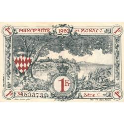 Monaco - Pirot 136-6 - 1 franc - Série C - 16/03/1920 (1921) - Etat : SUP à SPL