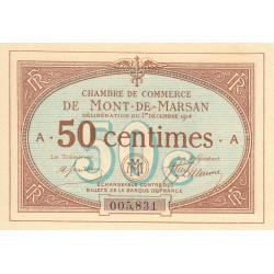 Mont-de-Marsan - Pirot 82-1 - 50 centimes - Série A - 01/12/1914 - Etat : SUP+
