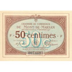 Mont-de-Marsan - Pirot 82-1 - Série F - 50 centimes - 1914 - Etat : TTB