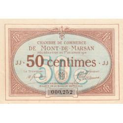 Mont-de-Marsan - Pirot 82-3 - Série JJ - 50 centimes - 1914 - Etat : TTB+