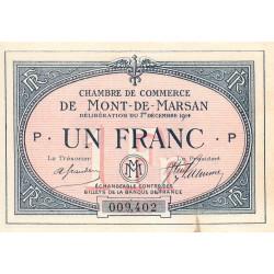 Mont-de-Marsan - Pirot 82-5 - Série P - 1 franc - 1914 - Etat : SUP