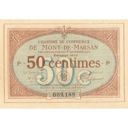 Mont-de-Marsan - Pirot 82-12 - 50 centimes - Série P - 1916 - Etat : SPL