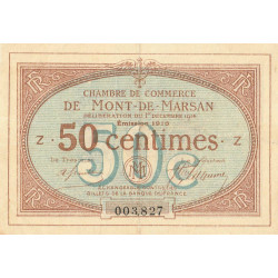Mont-de-Marsan - Pirot 82-12 - 50 centimes - Série Z - 1916 - Etat : TTB