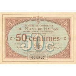 Mont-de-Marsan - Pirot 82-12 - Série Z - 50 centimes - 1916 - Etat : TTB