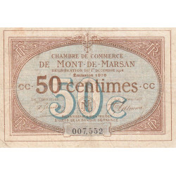 Mont-de-Marsan (Landes) - Pirot 82-14 - 50 centimes - Etat : TB-