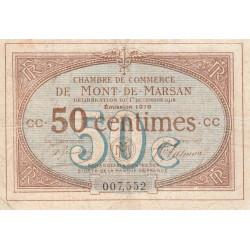 Mont-de-Marsan - Pirot 82-14 - Série CC - 50 centimes - 1916 - Etat : TB-