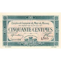 Mont-de-Marsan - Pirot 82-18 - 50 centimes - Série 103 - 1917 - Etat : NEUF