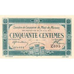 Mont-de-Marsan - Pirot 82-18 - Série 111 - 50 centimes - 1917 - Etat : SPL