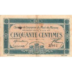 Mont-de-Marsan - Pirot 82-18 - Série 145 - 50 centimes - 1917 - Etat : TB