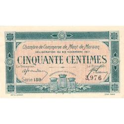 Mont-de-Marsan - Pirot 82-25 - Série 159 - 50 centimes - 1917 - Etat : SPL